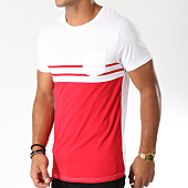 /achat-t-shirts-poche/lbo-tee-shirt-poche-bicolore-raye-480-rouge-blanc-146795.html