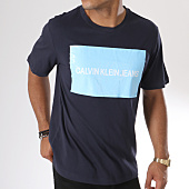 /achat-t-shirts/calvin-klein-tee-shirt-institutional-box-logo-7850-bleu-marine-146822.html