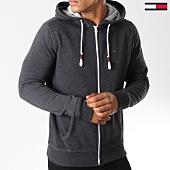 /achat-sweats-zippes-capuche/tommy-hilfiger-jeans-sweat-zippe-capuche-essential-4073-noir-chine-147238.html