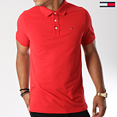 /achat-polos-manches-courtes/tommy-hilfiger-jeans-polo-manches-courtes-essential-5232-rouge-147250.html