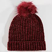 /achat-bonnets/deeluxe-bonnet-femme-velours-ninon-bordeaux-chine-147429.html