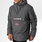 /achat-vestes/napapijri-veste-capuche-patchs-brodes-rainforest-winter-1-gris-anthracite-147504.html