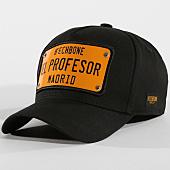 /achat-casquettes-de-baseball/hechbone-casquette-plaque-el-profesor-noir-jaune-147596.html