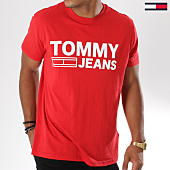 /achat-t-shirts/tommy-hilfiger-jeans-tee-shirt-essential-logo-4528-rouge-147794.html