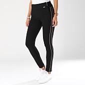 /achat-pantalons-carreaux/kaporal-pantalon-avec-bandes-femme-griff-noir-147934.html