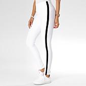 /achat-pantalons-carreaux/girls-only-pantalon-avec-bandes-femme-h280-blanc-148103.html