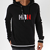 /achat-sweats-capuche/hechbone-sweat-capuche-avec-bandes-rio-noir-blanc-148135.html