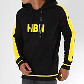 /achat-sweats-capuche/hechbone-sweat-capuche-avec-bandes-rio-noir-jaune-148165.html