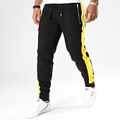 /achat-pantalons-joggings/hechbone-pantalon-jogging-avec-bandes-kin-noir-jaune-148170.html