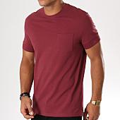 /achat-t-shirts-poche/celio-tee-shirt-poche-meme-gofret-bordeaux-148317.html