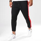 /achat-pantalons-carreaux/frilivin-pantalon-avec-bandes-1393-noir-148361.html