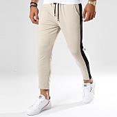 /achat-pantalons-carreaux/frilivin-pantalon-jogging-avec-bandes-1393-beige-148362.html