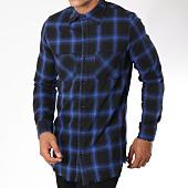 /achat-chemises-manches-longues/frilivin-chemise-manches-longues-a-carreaux-ap1208-noir-bleu-roi-148368.html