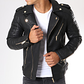 /achat-vestes-biker/frilivin-veste-biker-sk011-noir-dore-148390.html