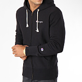 /achat-sweats-zippes-capuche/champion-sweat-zippe-capuche-212579-noir-148630.html