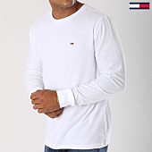 /achat-t-shirts-manches-longues/tommy-hilfiger-jeans-tee-shirt-manches-longues-classics-5095-blanc-148691.html