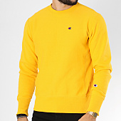 /achat-sweats-col-rond-crewneck/champion-sweat-crewneck-212572-jaune-148936.html