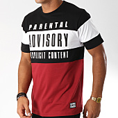/achat-t-shirts/parental-advisory-tee-shirt-block-tricolore-bordeaux-noir-148956.html