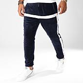 /achat-pantalons-joggings/terance-kole-pantalon-jogging-velours-avec-bandes-88018-bleu-marine-149212.html