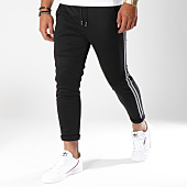 /achat-pantalons-carreaux/frilivin-pantalon-avec-bandes-1377-noir-149315.html