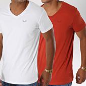 /achat-t-shirts/kaporal-lot-de-2-tee-shirts-gift-blanc-rouge-brique-149550.html