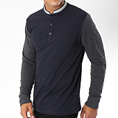 /achat-polos-manches-longues/american-people-polo-manches-longues-turner-bleu-marine-gris-anthracite-149783.html