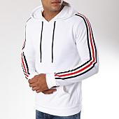 /achat-sweats-capuche/zayne-paris-sweat-capuche-avec-bandes-brodees-tx-144-blanc-149697.html
