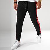 /achat-pantalons-joggings/brave-soul-pantalon-jogging-avec-bandes-majestic-noir-rouge-149927.html