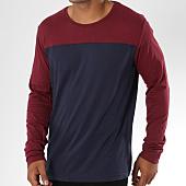 /achat-t-shirts-manches-longues/brave-soul-tee-shirt-manches-longues-brosnab-bleu-marine-bordeaux-149931.html