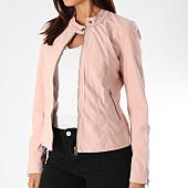 /achat-vestes/only-veste-zippee-femme-saga-rose-149887.html