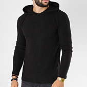 /achat-pulls/selected-pull-capuche-luke-gris-anthracite-chine-149826.html