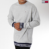 /achat-sweats-col-rond-crewneck/tommy-hilfiger-jeans-sweat-crewneck-oversize-rib-logo-5159-gris-chine-150073.html