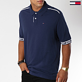 /achat-polos-manches-courtes/tommy-hilfiger-jeans-polo-manche-courtes-rib-detail-5183-bleu-marine-150075.html