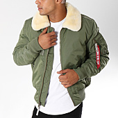 /achat-bombers/alpha-industries-bomber-avec-col-mouton-injector-iii-vert-kaki-150344.html
