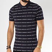 /achat-polos-manches-courtes/calvin-klein-polo-manches-courtes-all-over-institutional-9629-bleu-marine-150319.html