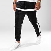 /achat-pantalons-joggings/terance-kole-pantalon-jogging-velours-avec-bandes-88018-noir-150439.html