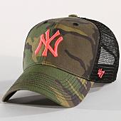 /achat-trucker/47-brand-casquette-trucker-camo-branson-mlb-new-york-yankees-vert-kaki-rose-150542.html