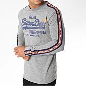 /achat-t-shirts-manches-longues/superdry-tee-shirt-manches-longues-avec-bandes-vintage-logo-panel-stripe-gris-chine-150701.html