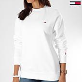 /achat-sweats-col-rond-crewneck/tommy-hilfiger-jeans-sweat-crewneck-femme-classics-4529-blanc-150877.html