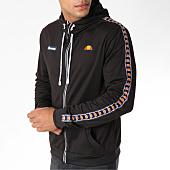 /achat-sweats-zippes-capuche/ellesse-sweat-capuche-zippe-avec-bandes-1032-noir-150973.html