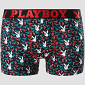 /achat-boxers/playboy-boxer-candy-cane-print-noir-rouge-vert-151086.html