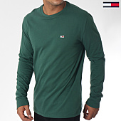 /achat-t-shirts-manches-longues/tommy-hilfiger-jeans-tee-shirt-manches-longues-classics-5095-vert-151028.html