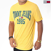 /achat-t-shirts/tommy-hilfiger-jeans-tee-shirt-collegiate-5129-jaune-151035.html