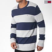 /achat-pulls/tommy-hilfiger-jeans-pull-classics-block-5063-bleu-marine-gris-chine-151056.html