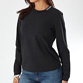 /achat-sweats-col-rond-crewneck/calvin-klein-sweat-crewneck-femme-embroidered-8498-noir-151333.html