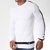 /achat-pulls/classic-series-pull-avec-bandes-5944-blanc-rouge-noir-151210.html