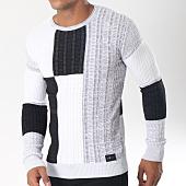 /achat-pulls/classic-series-pull-5907-blanc-noir-gris-chine-151216.html