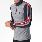 /achat-polos-manches-longues/classic-series-polo-manches-longues-bandes-brodees-8475-bleu-marine-chine-blanc-rouge-151279.html
