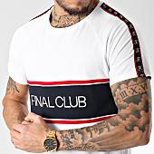 /achat-t-shirts-longs-oversize/final-club-tee-shirt-oversize-avec-bandes-et-logo-083-blanc-151303.html