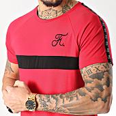 /achat-t-shirts-longs-oversize/final-club-tee-shirt-premium-fit-avec-bande-et-broderie-085-rouge-151304.html